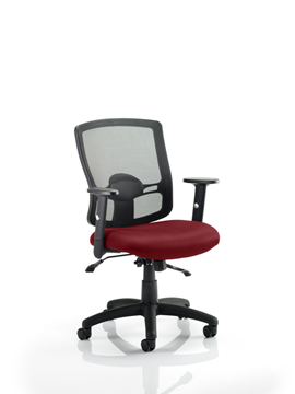 Picture of Office Chair Company Portland II With Bespoke Colour Seat Chilli