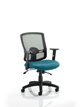 Picture of Office Chair Company Portland II With Bespoke Colour Seat Kingfisher