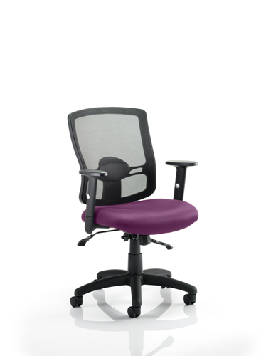 Picture of Office Chair Company Portland II With Bespoke Colour Seat Purple