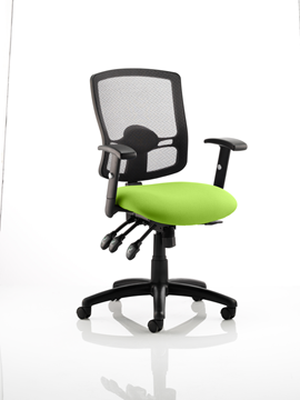 Picture of Office Chair Company Portland III Black Mesh Back Bespoke Colour Seat Swizzle