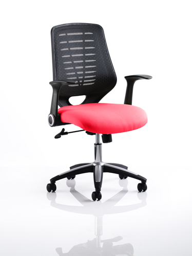 Picture of Office Chair Company Relay Bespoke Colour Black Back Cherry