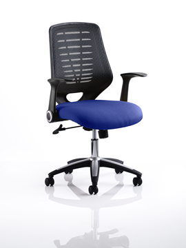 Picture of Office Chair Company Relay Bespoke Colour Black Back Serene