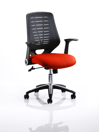 Picture of Office Chair Company Relay Bespoke Colour Black Back Pimento