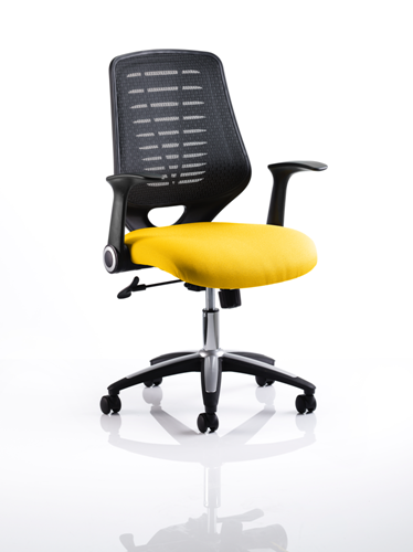 Picture of Office Chair Company Relay Bespoke Colour Black Back Sunset