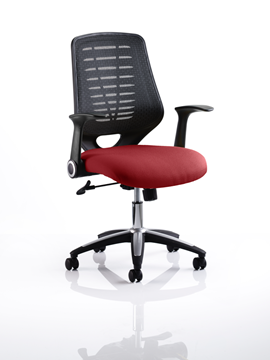 Picture of Office Chair Company Relay Bespoke Colour Black Back Chilli