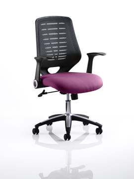 Picture of Office Chair Company Relay Bespoke Colour Black Back Purple