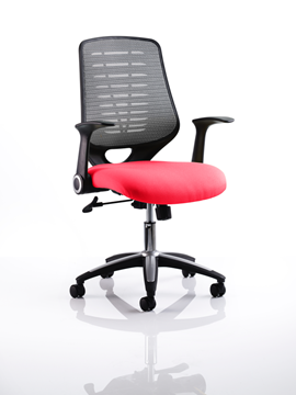 Picture of Office Chair Company Relay Bespoke Colour Silver Back Cherry