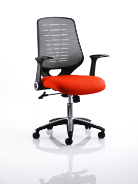 Picture of Office Chair Company Relay Bespoke Colour Silver Back Pimento