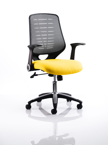 Picture of Office Chair Company Relay Bespoke Colour Silver Back Sunset