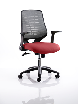 Picture of Office Chair Company Relay Bespoke Colour Silver Back Chilli