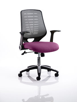 Picture of Office Chair Company Relay Bespoke Colour Silver Back Purple