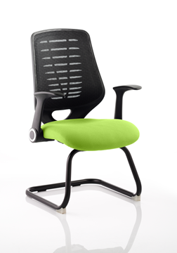 Picture of Office Chair Company Relay Cantilever Bespoke Colour Black Back Swizzle