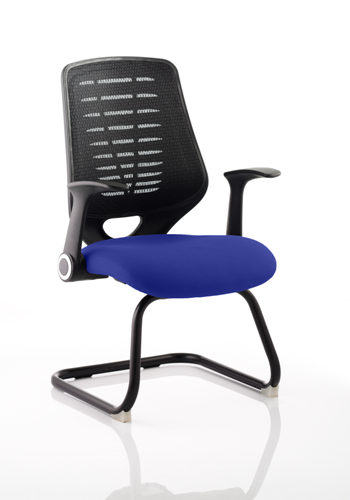 Picture of Office Chair Company Relay Cantilever Bespoke Colour Black Back Serene