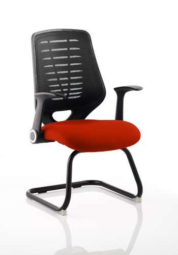 Picture of Office Chair Company Relay Cantilever Bespoke Colour Black Back Pimento