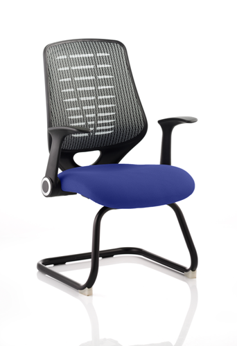 Picture of Office Chair Company Relay Cantilever Bespoke Colour Silver Back Serene