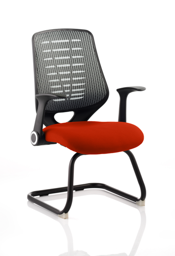 Picture of Office Chair Company Relay Cantilever Bespoke Colour Silver Back Pimento