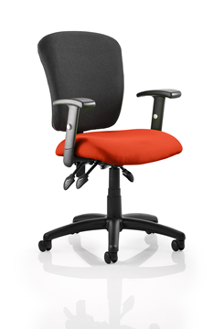 Picture of Office Chair Company Toledo Bespoke Colour Seat Pimento
