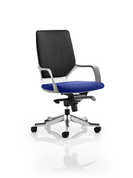 Picture of Office Chair Company Xenon White Medium Back Bespoke Colour Seat Serene
