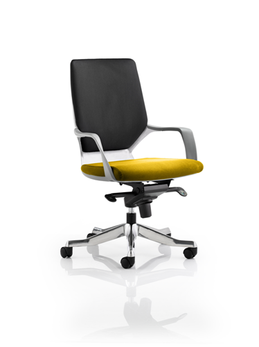 Picture of Office Chair Company Xenon White Medium Back Bespoke Colour Seat Sunset