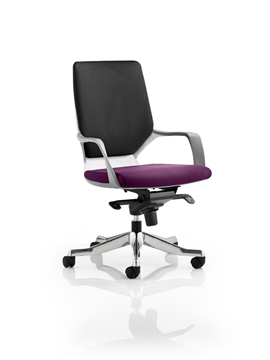 Picture of Office Chair Company Xenon White Medium Back Bespoke Colour Seat Purple