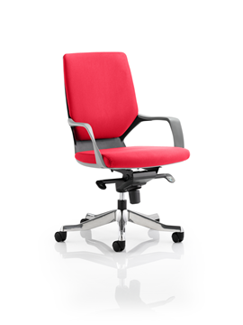 Picture of Office Chair Company Xenon Black Medium Back Bespoke Colour Cherry