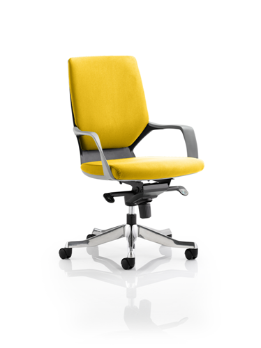 Picture of Office Chair Company Xenon Black Medium Back Bespoke Colour Sunset