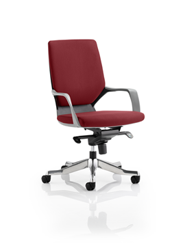 Picture of Office Chair Company Xenon Black Medium Back Bespoke Colour Chilli