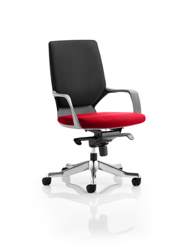 Picture of Office Chair Company Xenon Black Medium Back Bespoke Colour Seat Cherry