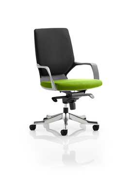 Picture of Office Chair Company Xenon Black Medium Back Bespoke Colour Seat Swizzle