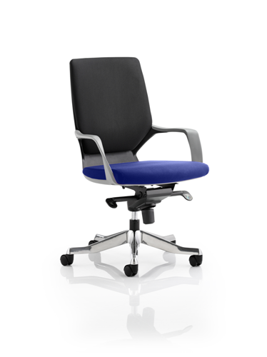 Picture of Office Chair Company Xenon Black Medium Back Bespoke Colour Seat Serene