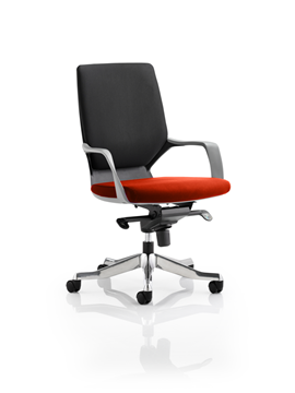 Picture of Office Chair Company Xenon Black Medium Back Bespoke Colour Seat Pimento