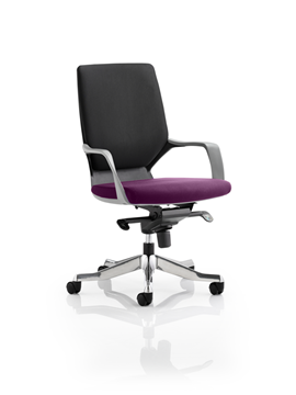 Picture of Office Chair Company Xenon Black Medium Back Bespoke Colour Seat Purple