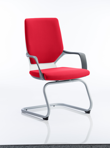 Picture of Office Chair Company Xenon White Visitor Bespoke Colour Cherry