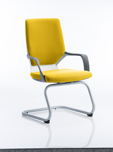 Picture of Office Chair Company Xenon White Visitor Bespoke Colour Sunset