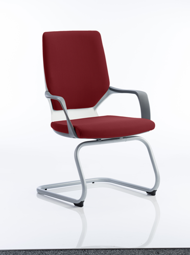 Picture of Office Chair Company Xenon White Visitor Bespoke Colour Chilli