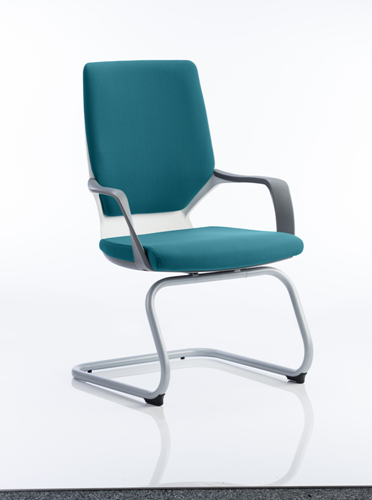 Picture of Office Chair Company Xenon White Visitor Bespoke Colour Kingfisher