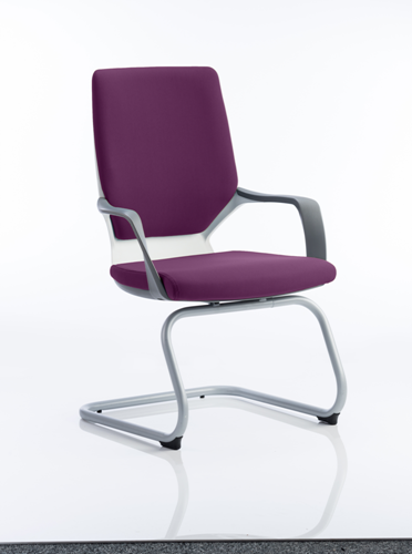 Picture of Office Chair Company Xenon White Visitor Bespoke Colour Purple