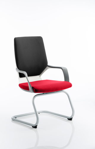 Picture of Office Chair Company Xenon White Visitor Bespoke Colour Seat Cherry