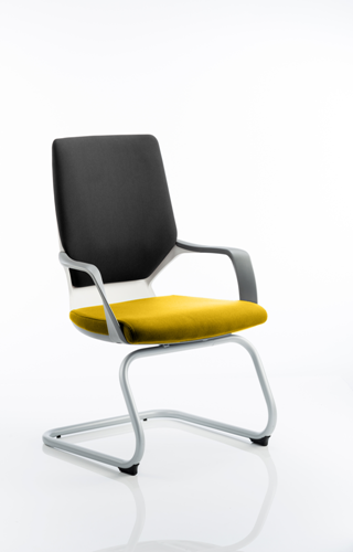 Picture of Office Chair Company Xenon White Visitor Bespoke Colour Seat Sunset