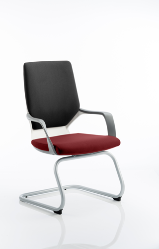 Picture of Office Chair Company Xenon White Visitor Bespoke Colour Seat Chilli