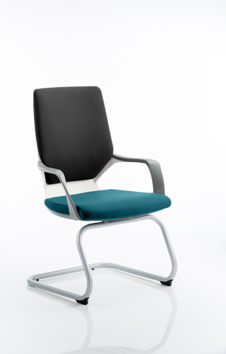 Picture of Office Chair Company Xenon White Visitor Bespoke Colour Seat Kingfisher