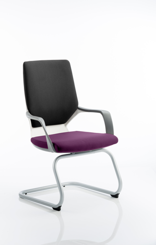 Picture of Office Chair Company Xenon White Visitor Bespoke Colour Seat Purple