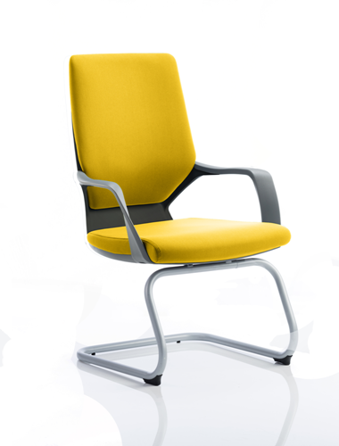 Picture of Office Chair Company Xenon Black Visitor Bespoke Colour Sunset