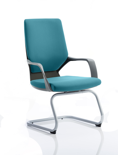 Picture of Office Chair Company Xenon Black Visitor Bespoke Colour Kingfisher