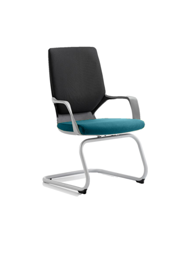 Picture of Office Chair Company Xenon Black Visitor Bespoke Colour Seat Kingfisher