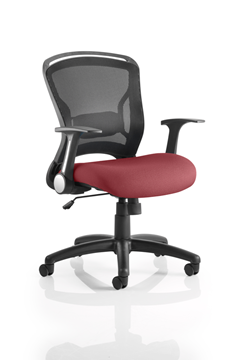 Picture of Office Chair Company Zeus Bespoke Colour Seat Chilli