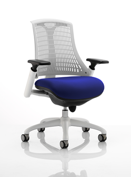 Picture of Office Chair Company Flex Task Operator Chair White Frame White Back Bespoke Colour Seat Serene
