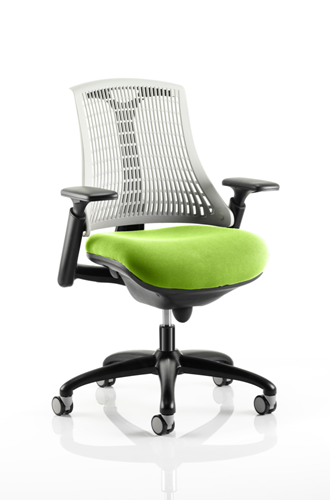 Picture of Office Chair Company Flex Task Operator Chair Black Frame White Back Bespoke Colour Seat Swizzle