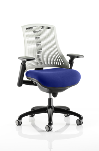 Picture of Office Chair Company Flex Task Operator Chair Black Frame White Back Bespoke Colour Seat Serene