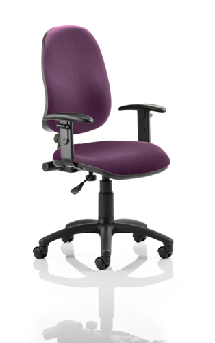 Picture of Office Chair Company Eclipse I Lever Task Operator Chair Bespoke With Height Adjustable Arms In Purple